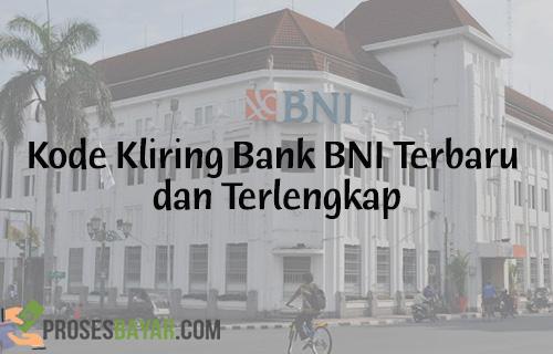 Kode Kliring Bank BNI Terbaru