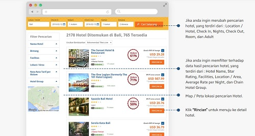 Cara Booking Hotel Via Tiket