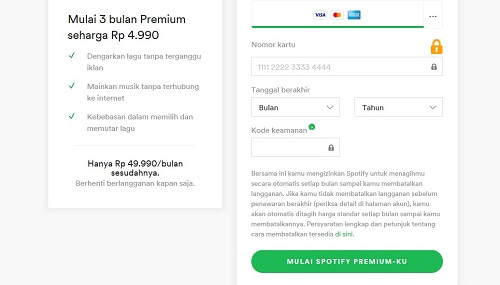Daftar Akun Premium Spotify