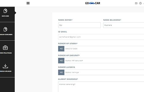 Formulir Pendaftaran GO-CAR