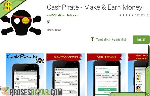 Kode Voucher Google Play Gratis dari Cashpirate