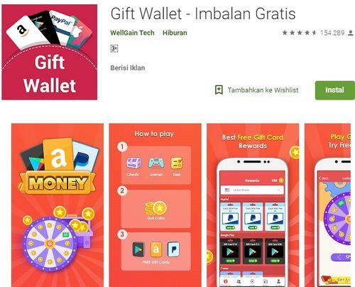 Kode Voucher Google Play Gratis dari Gift Wallet
