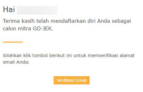 Verifikasi Email GO-RIDE