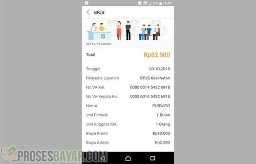 Informasi Tagihan Pelanggan BPJS