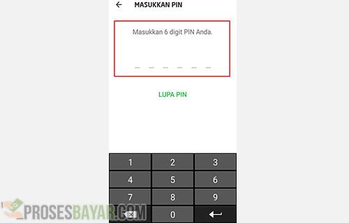Input PIN Anda