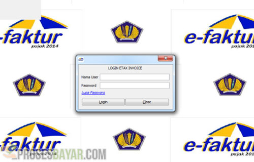 Login Program E-tax Invoice