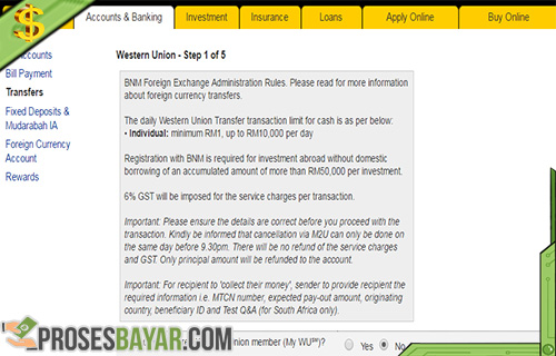 Maybank2U/Western Union