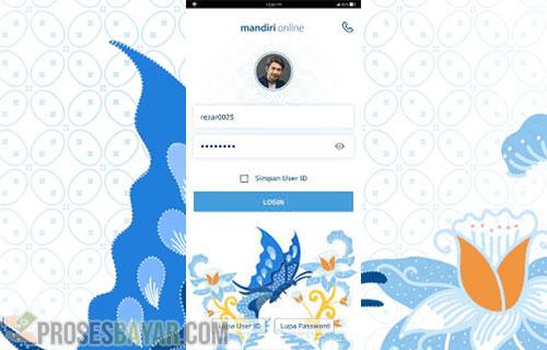 Menggunakan Aplikasi Mandiri Online