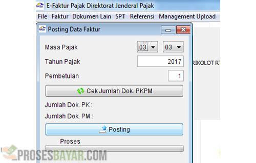 Posting Data Faktur