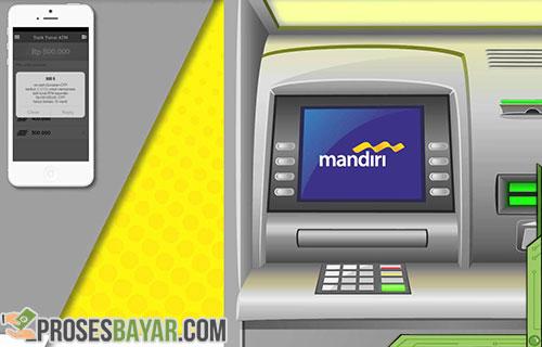Tarik tunai E-Cash Mandiri di ATM