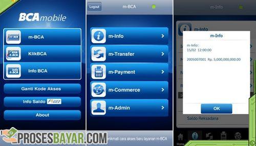 Menu Mobile Banking BCA