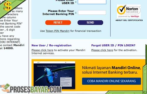 Cara Bayar Ujian Simak UI Lewat Internet Banking Mandiri