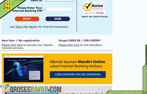 Cara Bayar Ujian Tulis UGM Lewat Internet Bangking Bank Mandiri