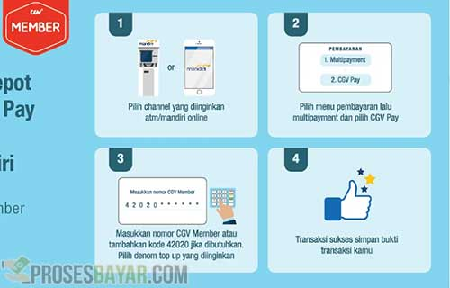Cara Top Up CGV Pay Lewat Bank Mandiri