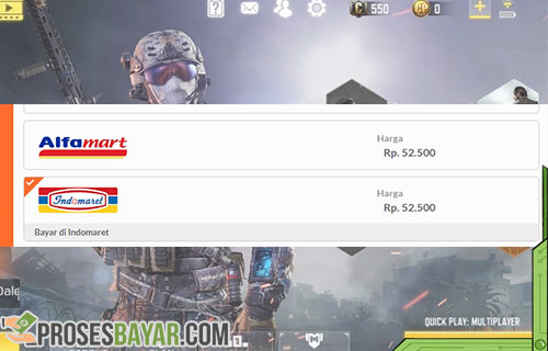 Cara Top Up CP COD Mobile Lewat Alfamart dan Indomaret