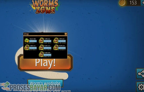 Cara Top Up Coins Worms Zone Android dan iPhone