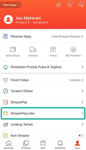 Profil Akun Shopee