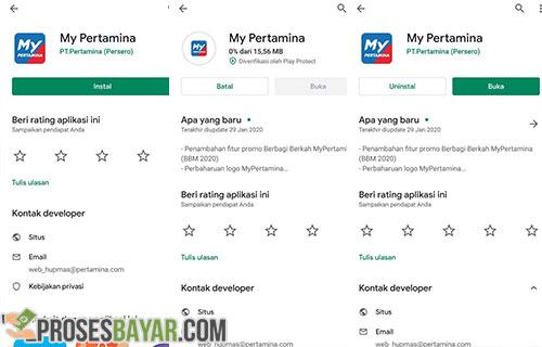 Install aplikasi MyPertamina