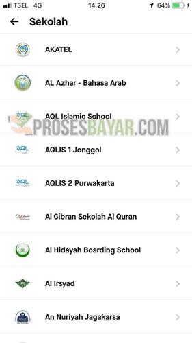 Pada menu Sekolah kamu silahkan cari nama sekolah kamu atau instansi pendidikan kamu bisa manfaatkan kolom pencarian dengan ketikkan nama sekolah