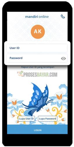 1. Login Aplikasi Mandiri Online