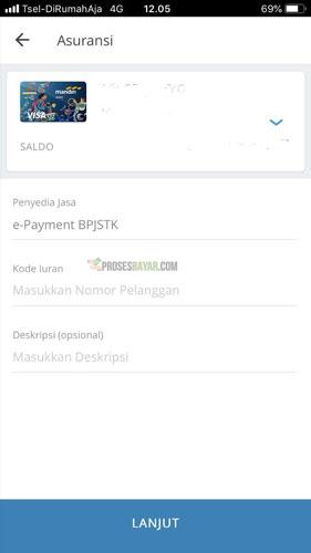 6. Pilih e Payment BPJSTK