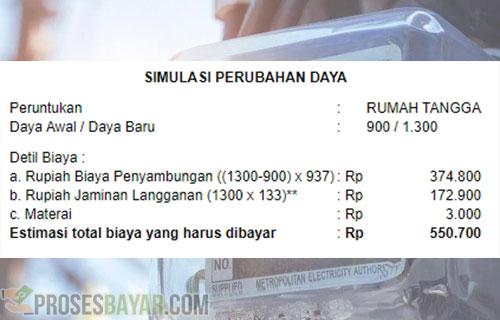 Biaya Tambah Daya Listrik 900 ke 1300