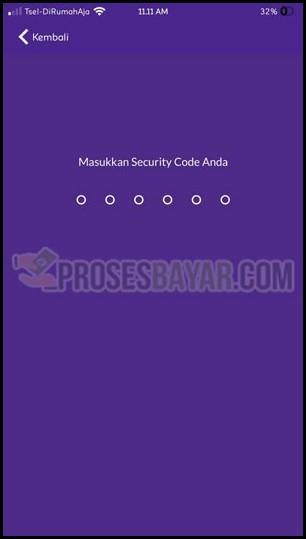 Masukan Security Code