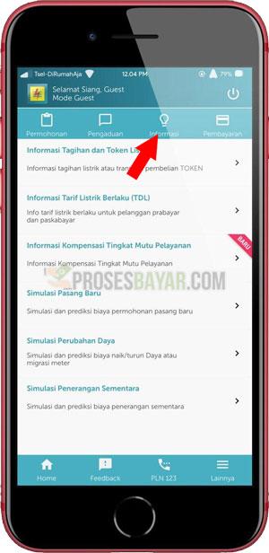Pilih Tab Informasi