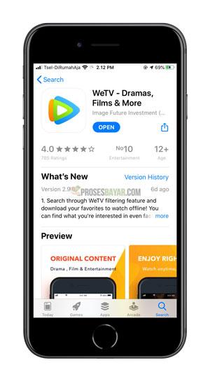 Download Instal App WeTV