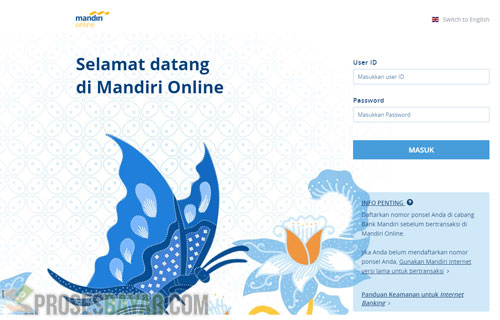 Bayar Virtual Account Mandiri di Website