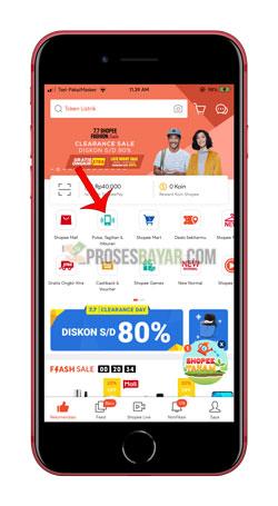 Buka Aplikasi Shopee Pilih Pulsa Tagihan Tiket