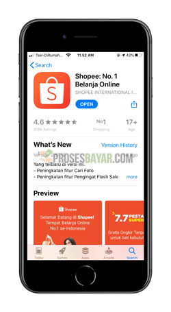 Download dan Instal Aplikasi Shopee