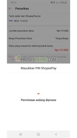 Masukan PIN ShopeePay Transfer