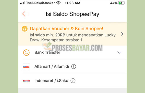 Pilih Menu Bank Transfer