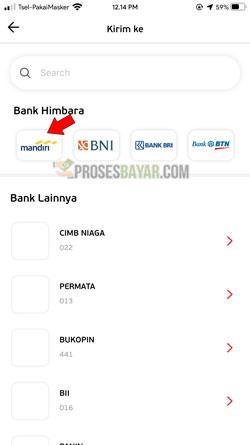Pilih Rekening Bank Mandiri
