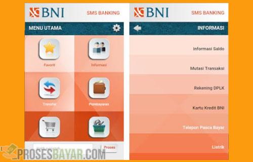 Cara Transfer SMS Banking BNI Antar Bank Lewat Aplikasi