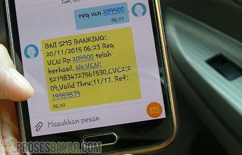 Transfer Lewat Syntak SMS
