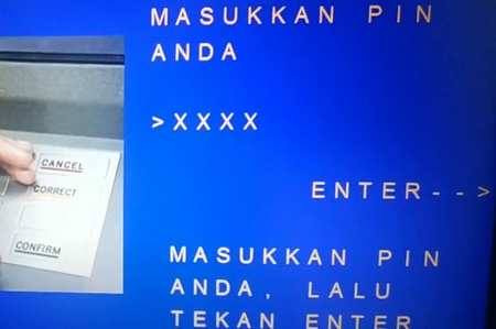 2 Masukan PIN ATM