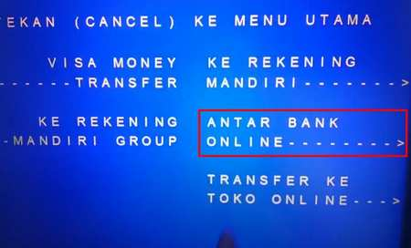 4 Pilih Transfer Antar Bank Online