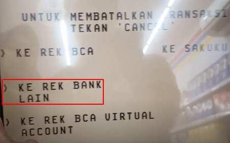 4. Pilih Ke Rekening Bank Lain