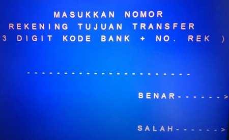 5 Masukan Kode Bank Tujuan