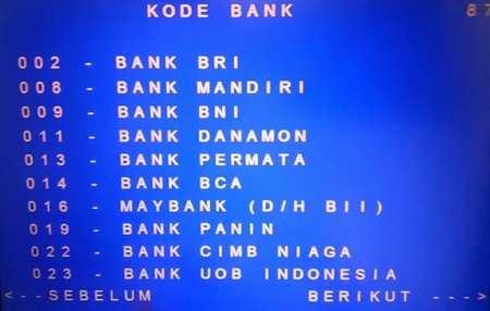6 Daftar Kode Bank