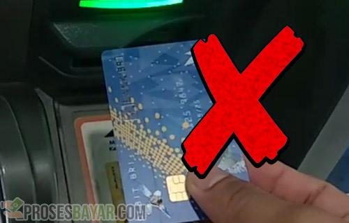 Jika Posisi Kartu ATM Salah