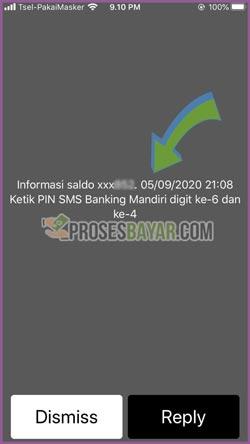 Masukan Perintah PIN SMS Banking Mandiri
