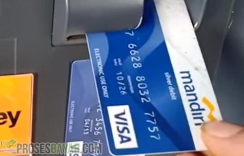 Posisi Benar Kartu ATM Mandiri