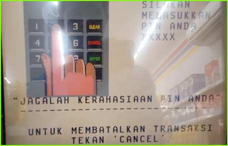 1 Masukan PIN ATM secara Benar