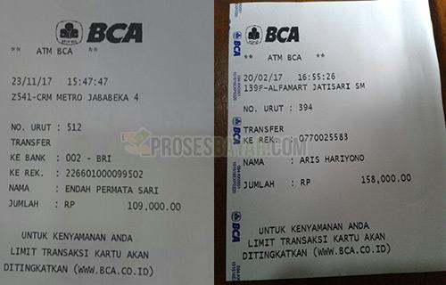 Contoh Bukti Transfer ATM BCA