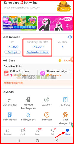 1 Pilih Lazada Credit
