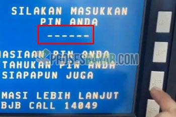 2 Masukan PIN ATM BJB