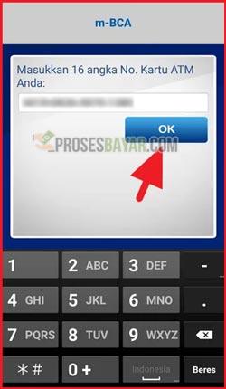 4 Masukan 16 digit Nomor Kartu ATM